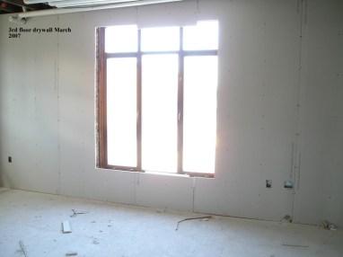 3rd floor drywall
