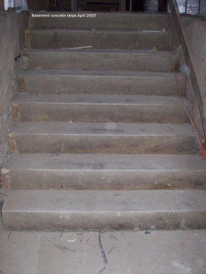 Basement concrete steps