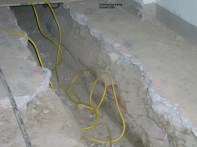 Existing clay piping