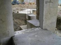 Footings at new receiving door