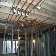 New HVAC piping