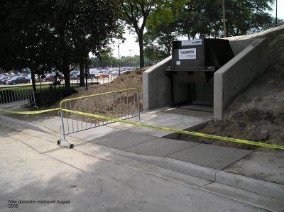 New dumpster enclosure