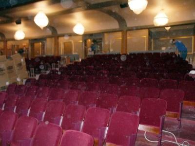 Seats Being Installed - Main Floor