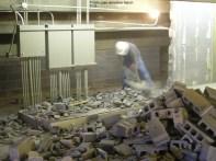 Trophy case demolition