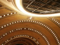 View of Ceiling with M and Laylight