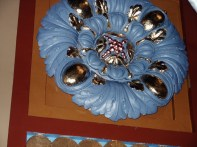 Rosette newly painted