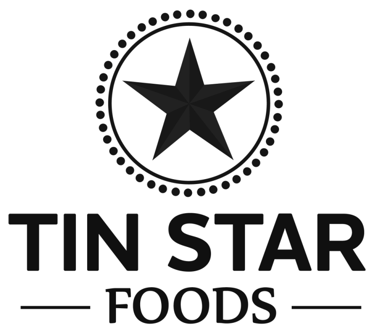 Tin Star Foods logo, 100% grass-fed ghee