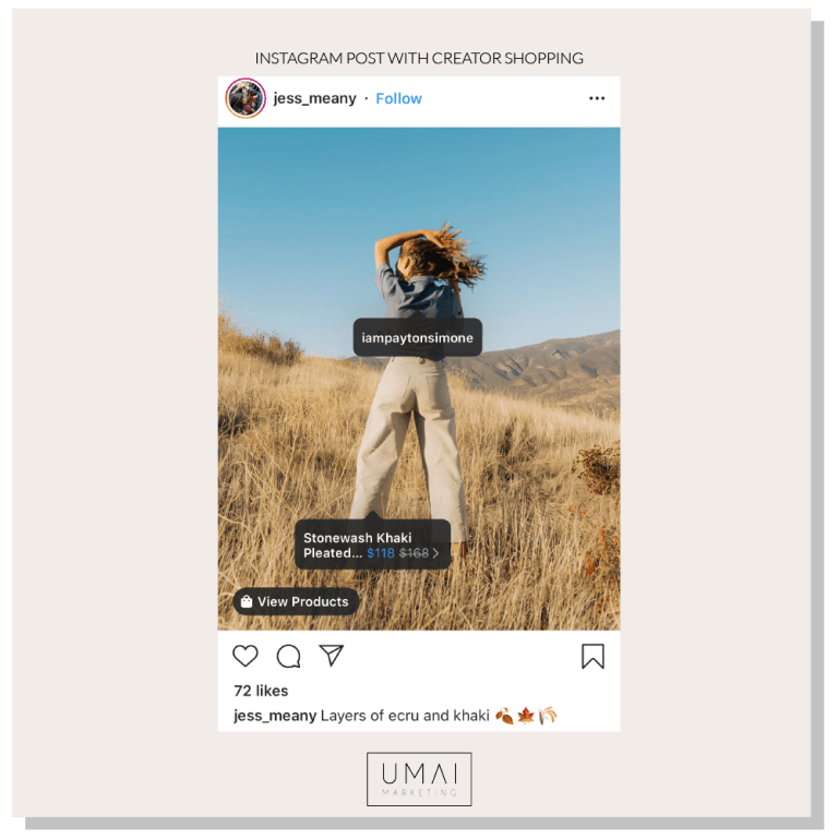 Example of instagram creator profile