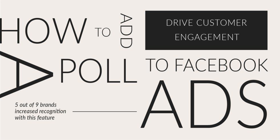 How to add a poll to Facebook ads
