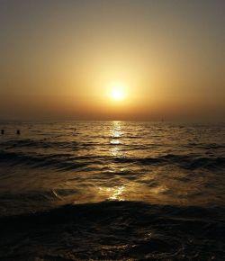 Beautiful evening at beach
