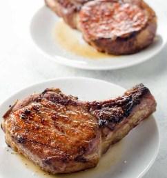 reverse sear pork chops with quick shallot herb pan sauce [ 780 x 1178 Pixel ]