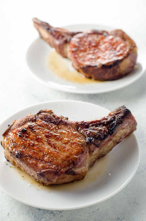 small resolution of reverse sear pork chops with quick shallot herb pan sauce