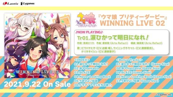 【ウマ娘】CD「WINNING LIVE 02」と「STARTING GATE Unit Song Collection」の試聴動画を公開! 発売は9月22日!