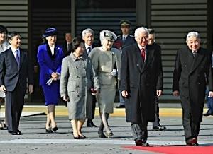 シンガポール大統領歓迎式典