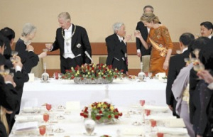 ベルギー国王夫妻宮中晩餐会