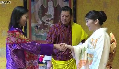 ブータン国王夫妻を表敬訪問眞子さま