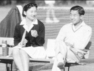 若かりし頃のテニスコートの天皇皇后