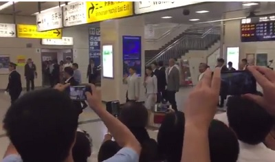 新幹線京都駅皇太子さまと雅子さま