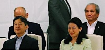 第32回国民文化祭と第17回全国障害者芸術・文化祭の開会式に出席される皇太子ご夫妻=2日午後、奈良市