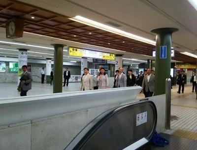 近鉄奈良駅皇太子さまと雅子さま