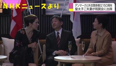 皇太子さま雅子さまが祝賀会に デンマークとの外交樹立150周年その2