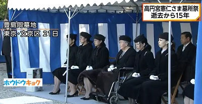 高円宮逝去15年久子さま承子さま絢子さま各皇族