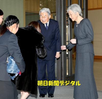 天皇皇后来日中のタイの王女と昼食