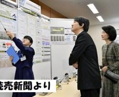 秋篠宮殿下と紀子さま、日本学生科学賞の授賞式にご出席