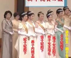 2018年新年祝賀の儀女性皇族紀子さま