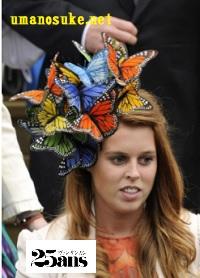 2008年従兄のピーター・フィリップスの結婚式の時の帽子ベアトリス王女