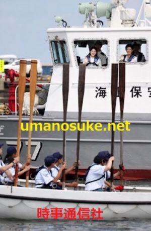 八戸海洋少年団の訓練を視察久子さまと絢子さま