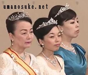 2019年新年祝賀の儀三笠宮信子妃、彬子さま瑤子さま