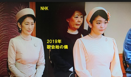 2019年歌会始の儀紀子さまと眞子さま