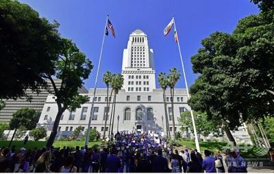 米カリフォルニア州ロサンゼルスの市庁舎