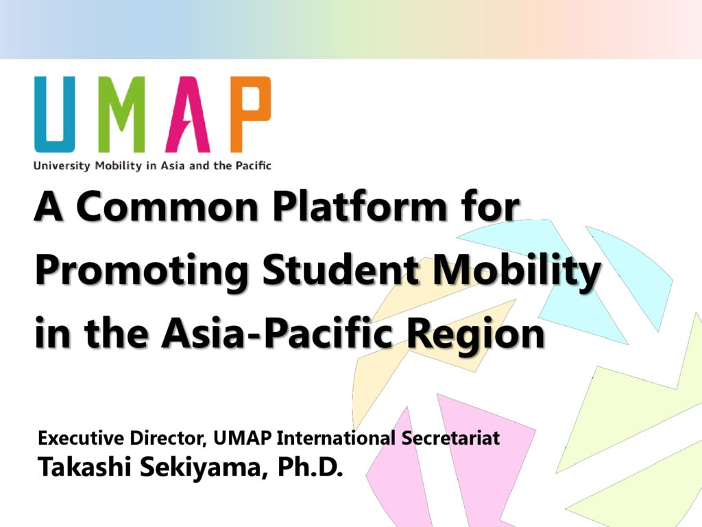 thumbnail of 6th APEC CCHE Plenary_Introduction to UMAP