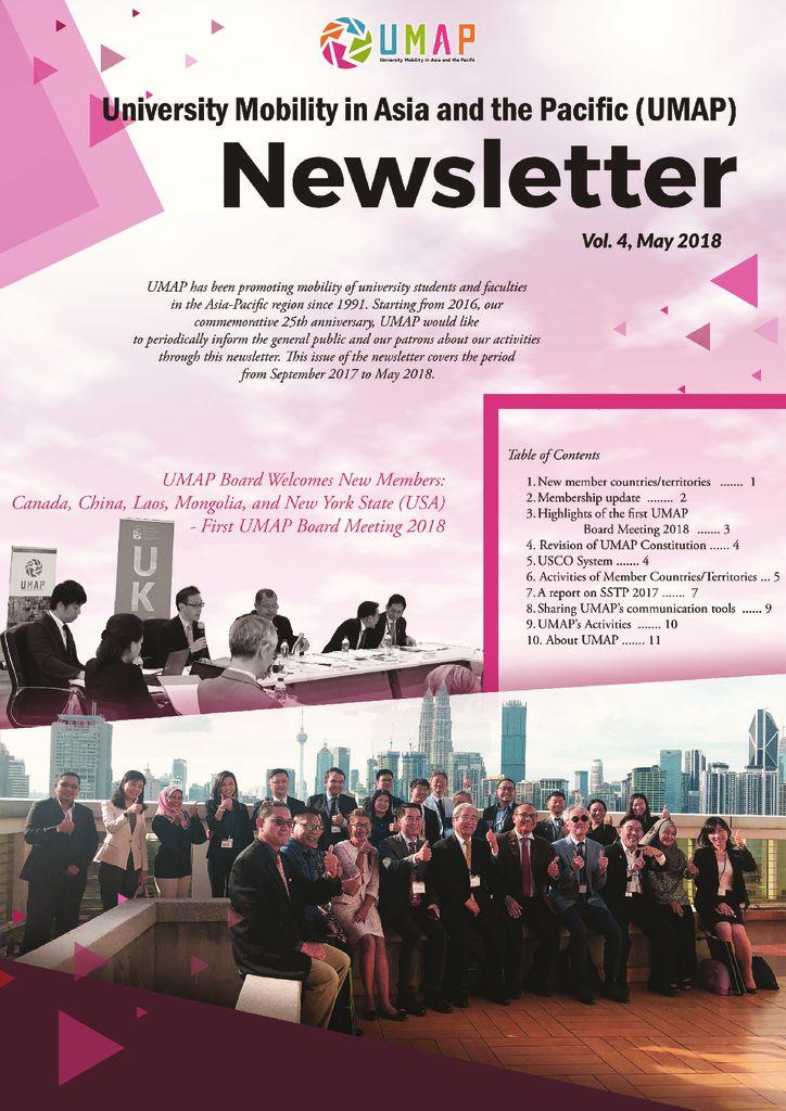 thumbnail of UMAP Newsletter vol 4