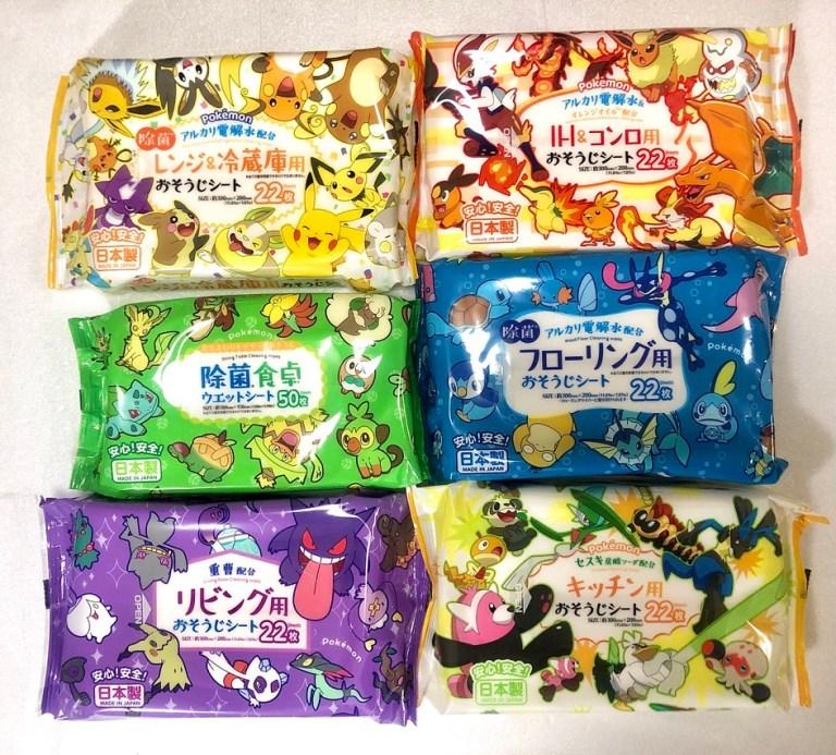 日本製 Pokemon 清潔用品紙巾 接受訂購中
