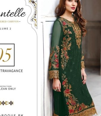 Chantelle Embroidered Chiffon Collection Vol-05 (D-05D)