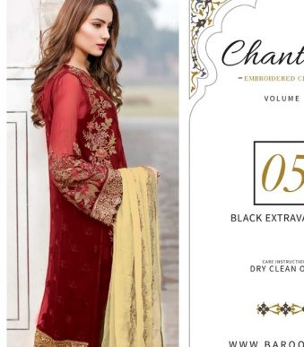 Chantelle Embroidered Chiffon Collection Vol-05 (D-05E)-gallery