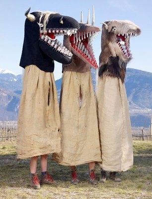 European Pagan Rituals Teeth Mask