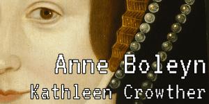 """Portion of Anne Boleyn's face with Twine Game title """"Anne Boleyn"""" overlaid"""