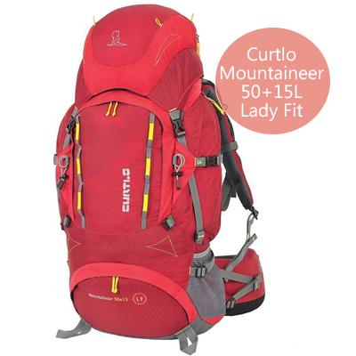Curtlo MOUNTAINEER 50+15L LADY FIT - Mochila de viagem feminina