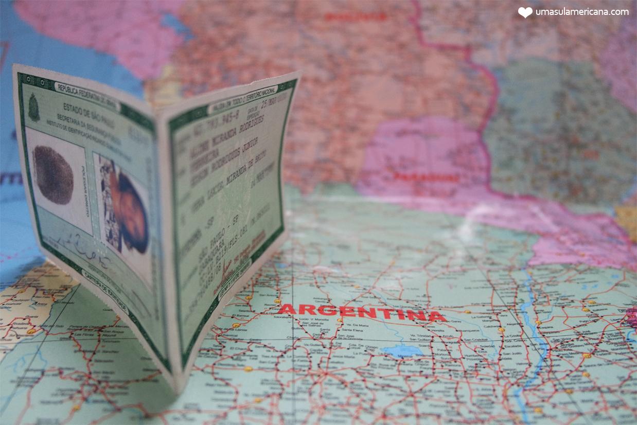 Usando RG para viajar pela América do Sul