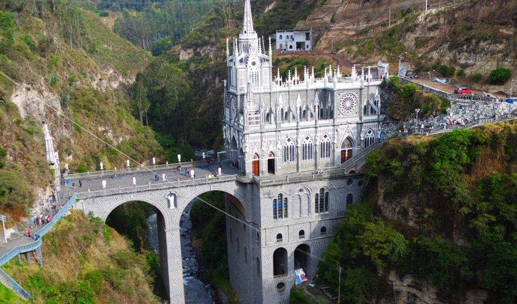 Santuário de Las Lajas, em Ipiales, na fronteira do Equador com a Colômbia - Igrejas da América do Sul