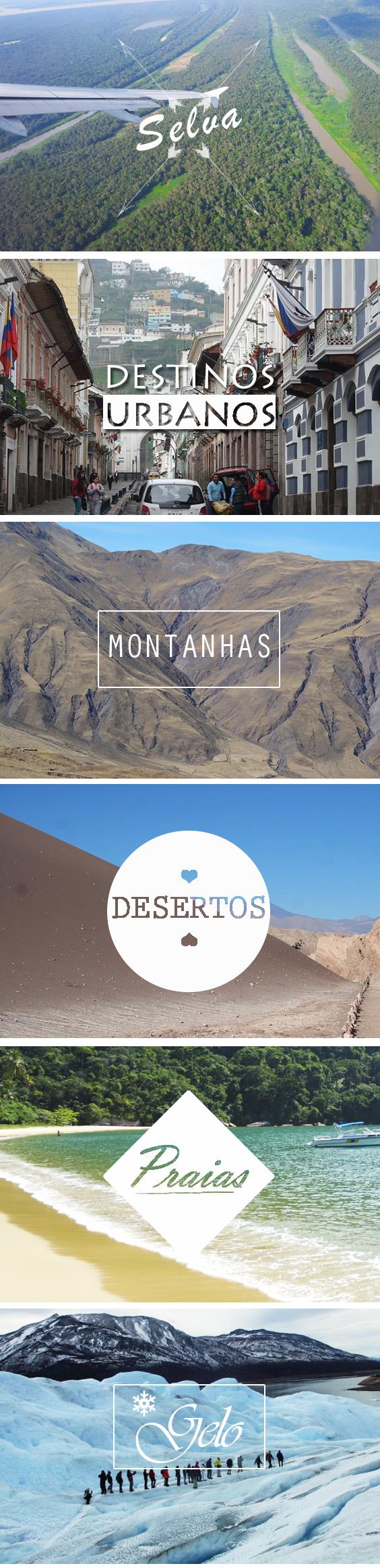 6 tipos de destinos na América do Sul - SOUTH AMERICA