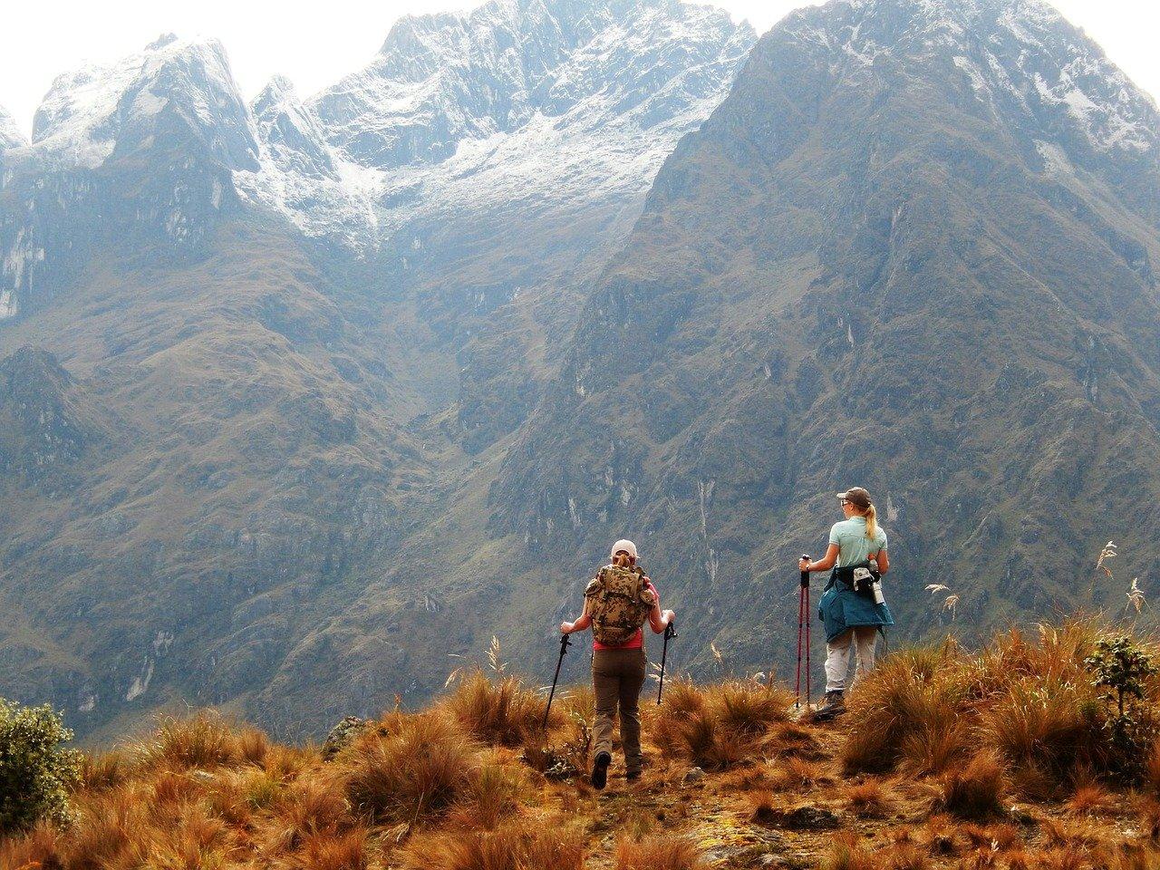 trilha Inca pra chegar em Machu Picchu