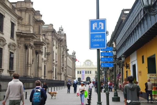 Jirón Carabaya - Um dia em Lima - Roteiro pelo centro histórico