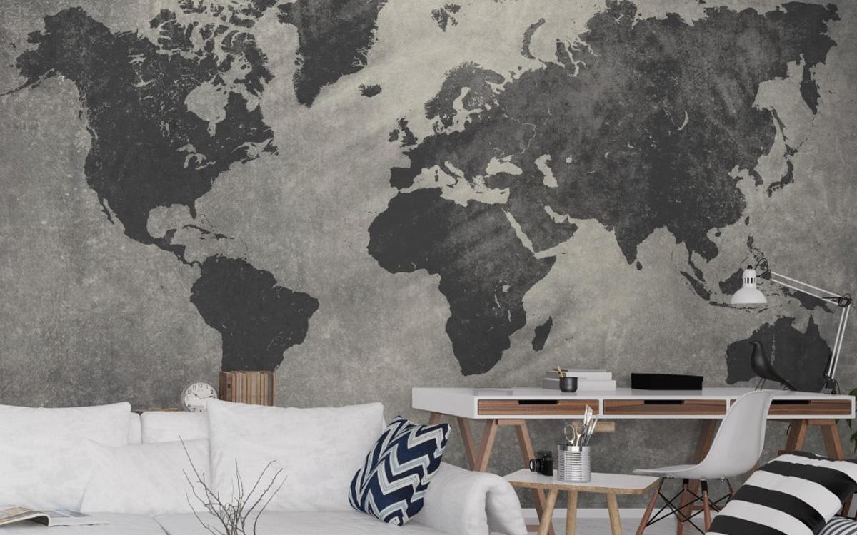 Papel de parede de mapa 12 modelos para comprar pela - Papel pared mapa mundi ...
