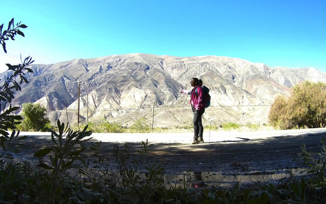 De carona na Argentina - De Tilcara até Purmamarca