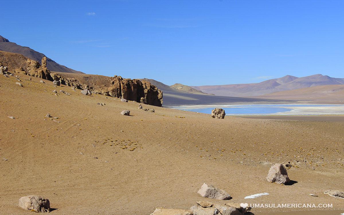 Salar e Laguna de Tara, passeio no Deserto do Atacama, no Chile